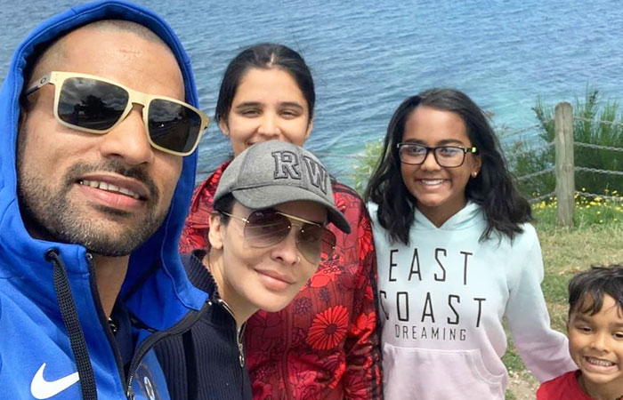 Shikhar Dhawan With Wife and Kids