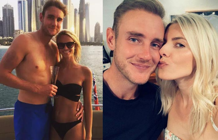 Stuart Broad With Girl Friend
