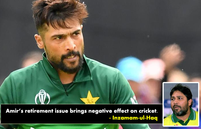 Amir's retirement issue brings negative effect on countries cricket