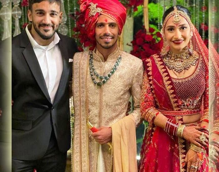 Anita Hassanandani's husband Rohit Reddy With Yuzi and Dhanashree Wedding
