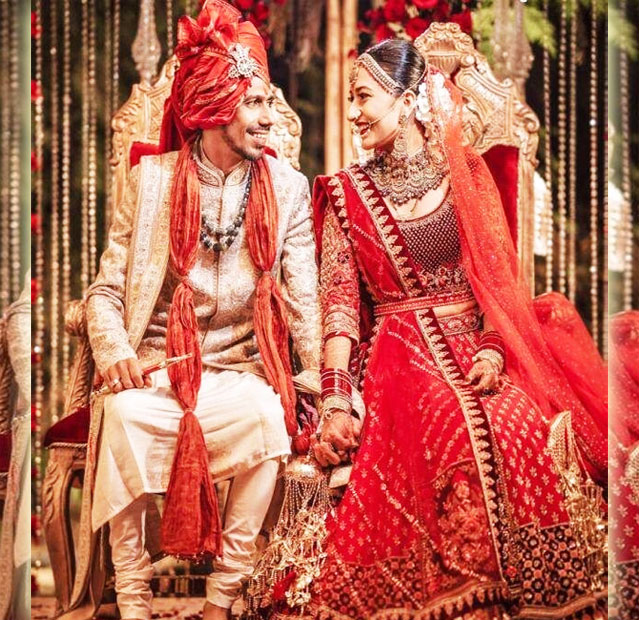 Beautiful Pictures from Dhanashree Verma Yuzvendra Chahal Wedding