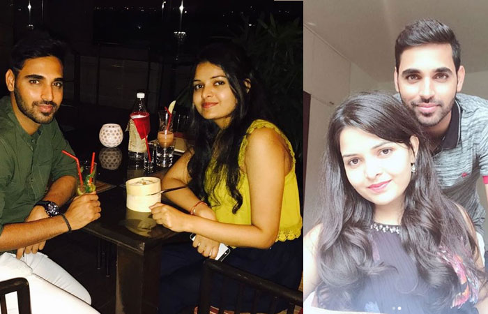 Bhuvneshwar Kumar With Wife Nupur Nagar Photos