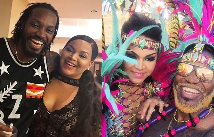 Chris Gayle With Wife Natasha Berridge Photos