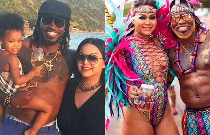 Chris Gayle With Wife Natasha Berridge and Kid Kris Allyna Gayle