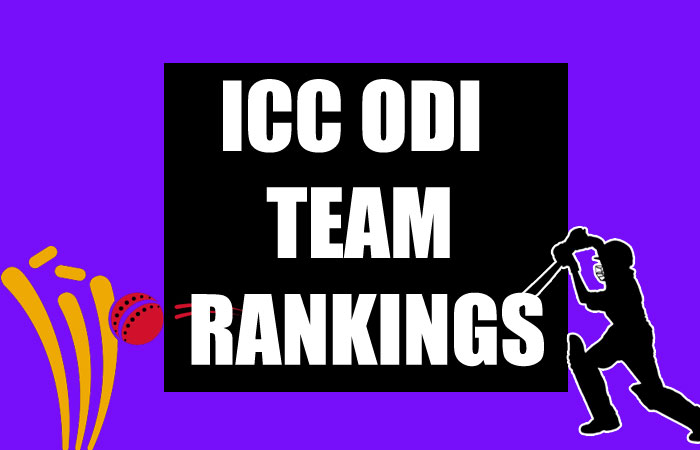 ICC ODI Team Rankings 2020