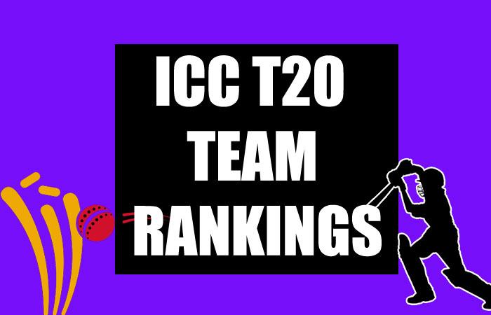 ICC T20 Team Rankings 2020