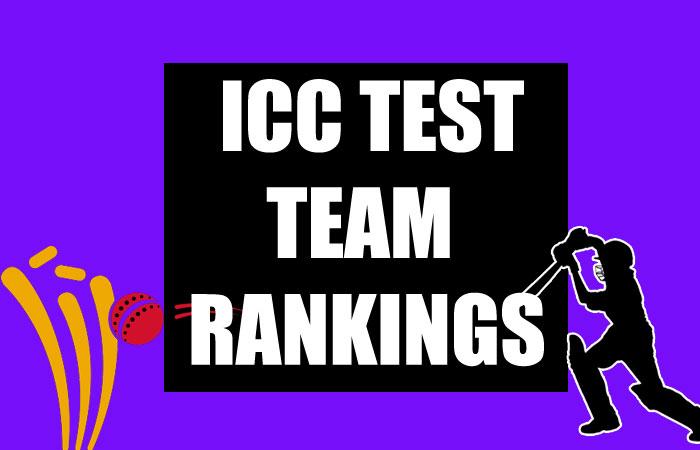 ICC Test Team Ranking