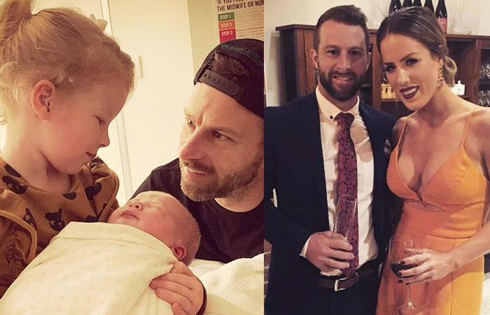 Matthew Wade With Wife Julia Barry and Daughter