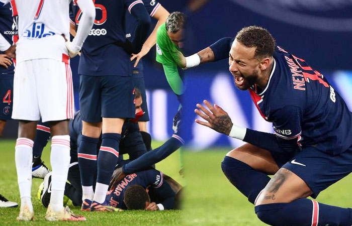 PSG vs Lyon : Neymar Faced a left Ankle Injury and Lyon Won PSG for 1-0