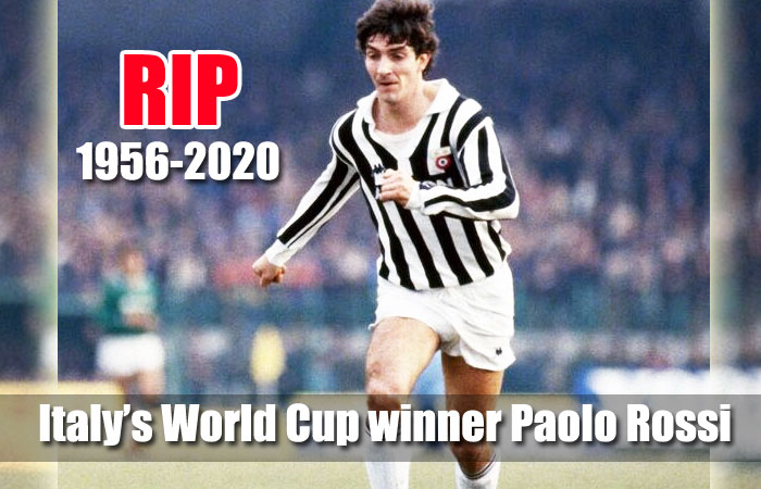 Italian Footballer Paolo Rossi, the World Cup winner of 1982 was Died