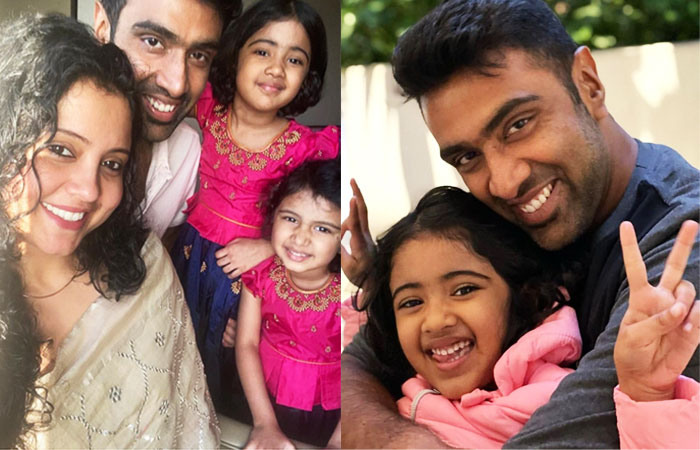 Ravichandran Ashwin With Wife Narayanan Prithi and Kids