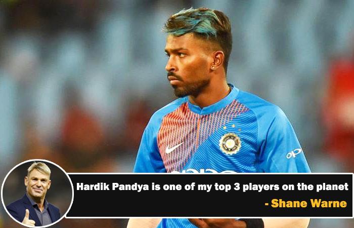 Rock Star Hardik Pandya is One of my Top 3 Players Squad Said Shane Warne