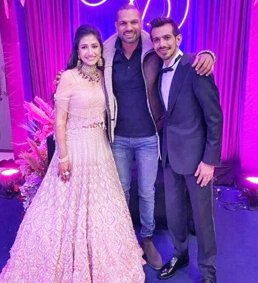 Shikhar Dhawan Presents on Yuzvendra Chahal Dhanashree's Wedding