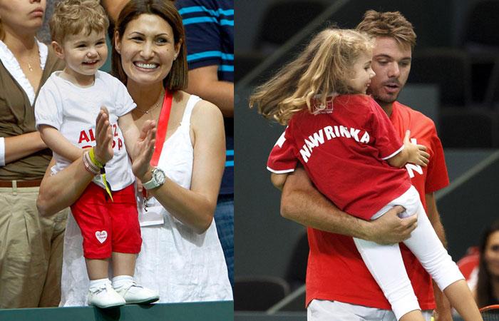 Stanislas Wawrinka With EX Wife Ilham Vuilloud and Kid