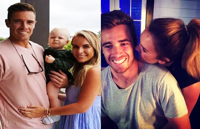 Tim Southee Wife Brya Fahy and Son Cooper Southee