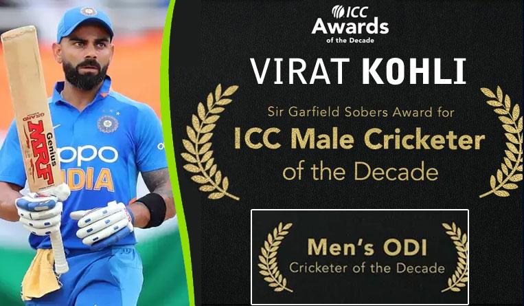 Virat Kohli Won the ICC Top Honours of the Decade