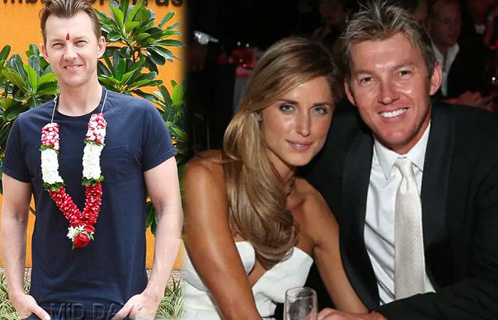 Brett Lee With Wife Lana Anderson
