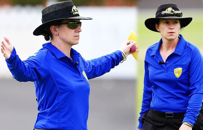 Claire Polosak Become the First Woman Umpire of Men's Test Match
