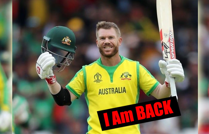 David Warner Will Return the Third Test Match Confirmed by Tim Paine