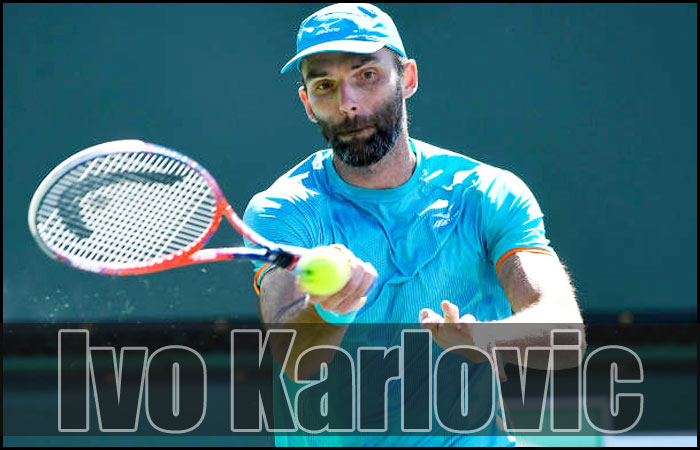 Croatian Ivo Karlovic Won the ATP Tour in his 41 and Records his Name After Jimmy in 42