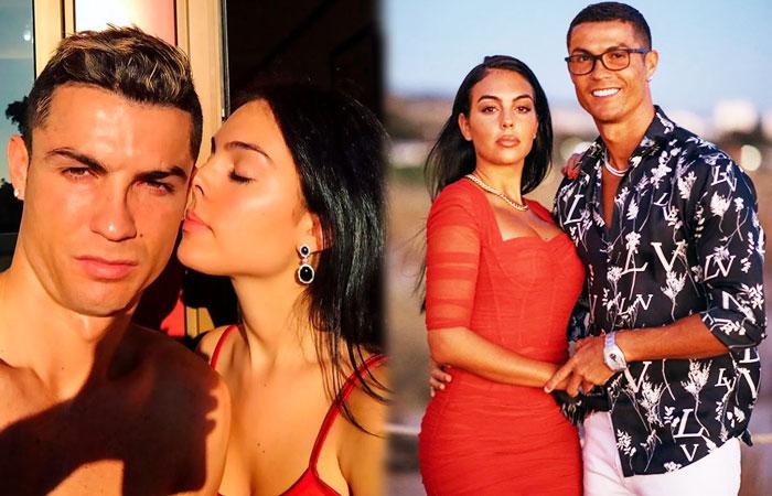 Juventus Star Cristiano Ronaldo With Wife Georgina Rodriguez