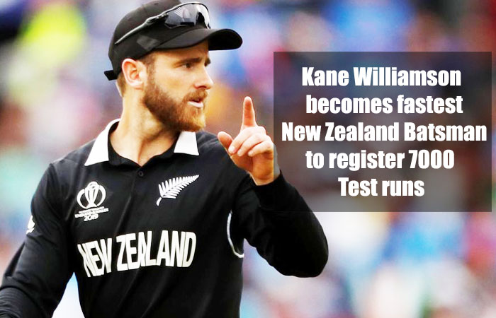 Kane Williamson Became the Fastest New Zealand Test Batsman to Score 7000 Runs