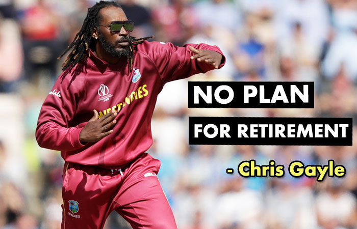 No Retirement Before 45 and Two More World Cup on the Way- Chris Gayle