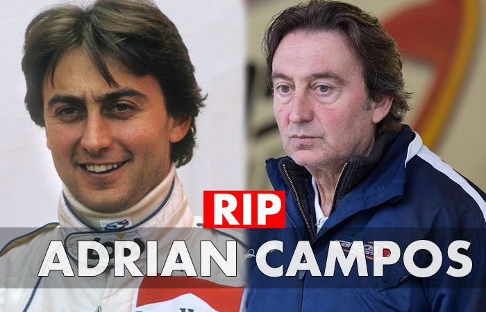Adrian Campos the Former Racer and Team Leader Dies at 60 Due to Heart Disease