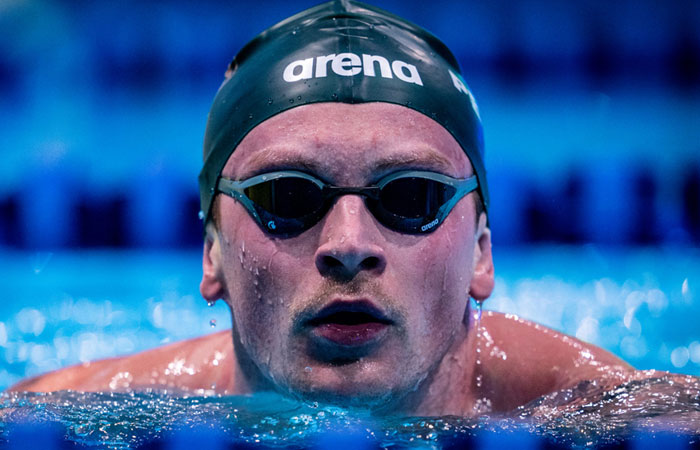 The Former Rio Champion Adam Peaty Conforms his Seat in Tokyo Olympics