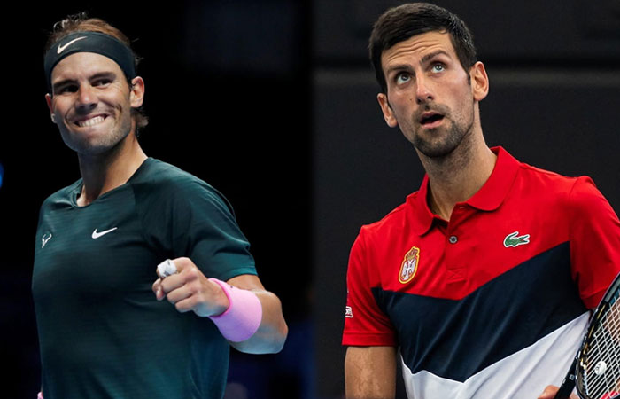 World Top Players Novak and Nadal Will Play Against 10 Countries in 2021