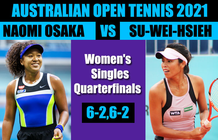 Australian Open: Osaka Defeated Hsieh and Reach Semi Final