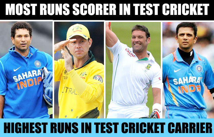 Highest Runs in Test Cricket Carrier | Most Runs in Test Cricket