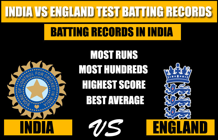 India vs England Test Batting Records