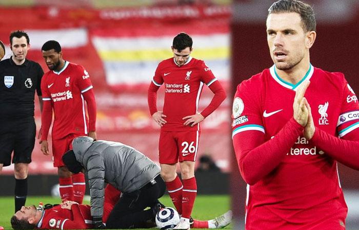 Liverpool captain Jordan Henderson Got injury against Everton