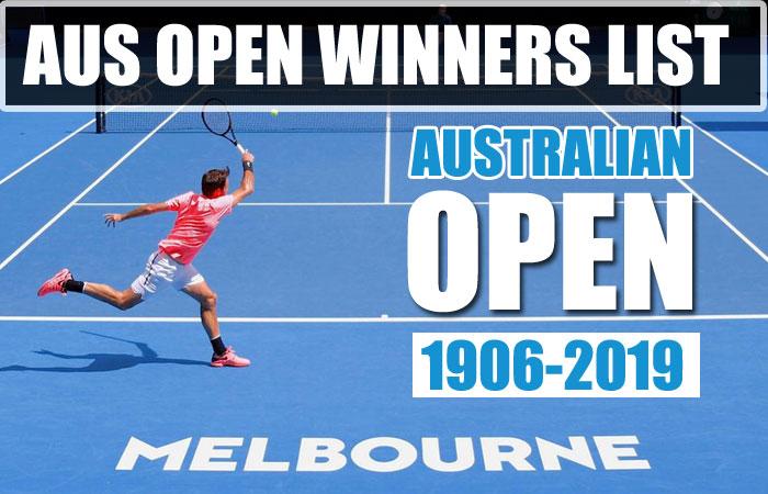 Australian Open Men's Singles Champions and Runner-up List