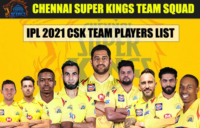 IPL Chennai Super Kings Team Squad 2021 | CSK Team Complete Players List IPL