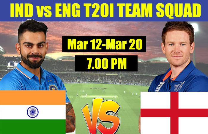 India vs England, T20I Both India and England Team Squad