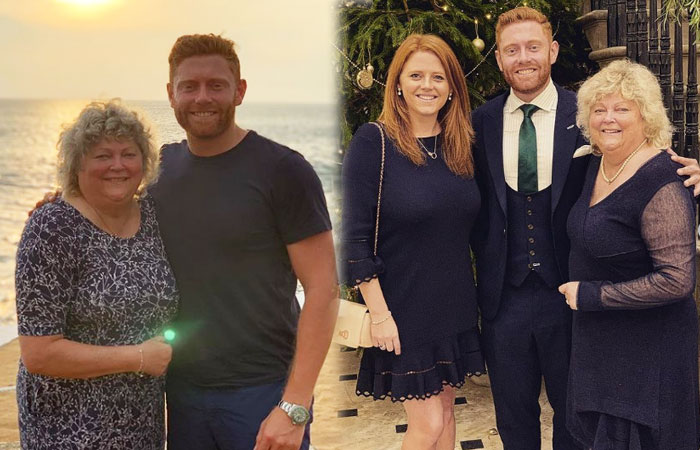 Jonny-Bairstow-with-Mother and Sister Rebecca Bairstow
