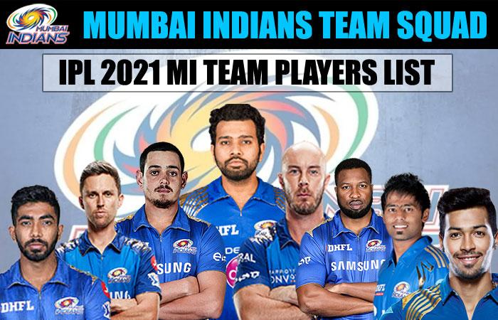 Mumbai Indians IPL 2021 Full Team Squad
