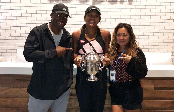 Naomi with parents Tamaki Osaka and Leonard Francois