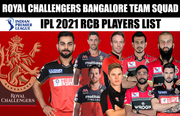 Royal Challengers Bangalore IPL 2021 Full Team Squad | RCB Complete Players List in IPL Season 14