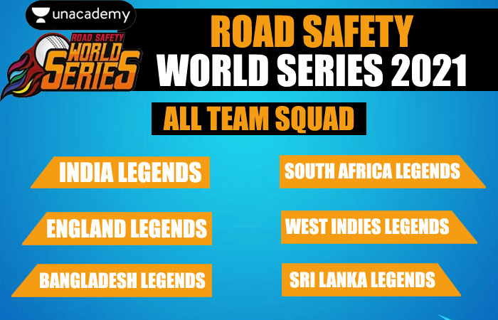 Road Safety World Series T20 2021 Players List for all Team Squads