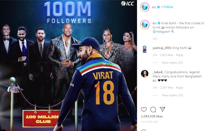 Virat-Kohli-Indian-Skipper-Reached-100M-Followers-on-Instagram
