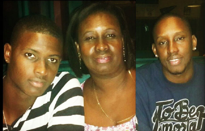 Jason Holder with Mother and Brother