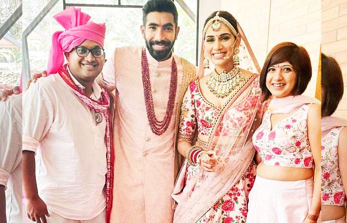 Jasprit Bumrah and Sanjana Ganesan Wedding Family