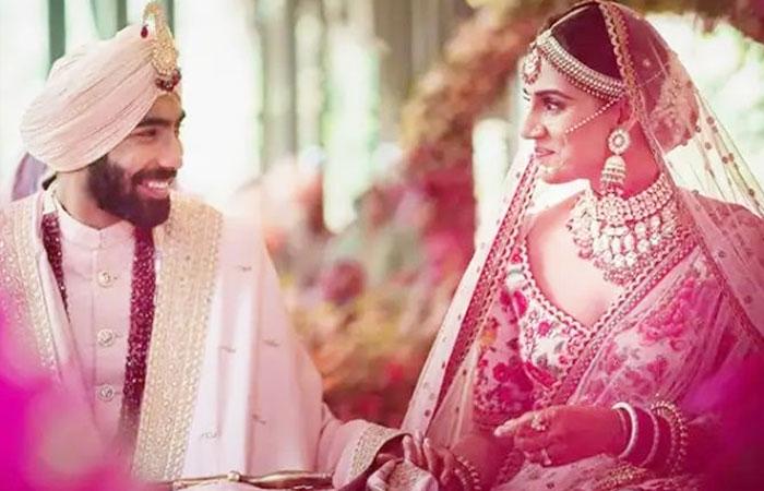 Jasprit Bumrah and Sanjana Ganesan Wedding Images