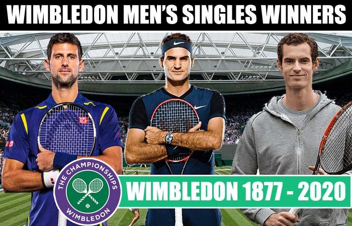 List of Wimbledon Men's Singles Winners List Year by Year