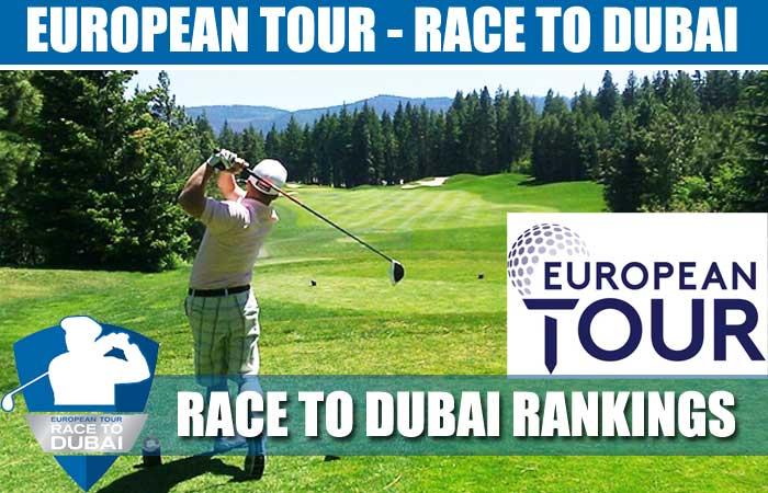 European Tour Standings - Race to Dubai Rankings
