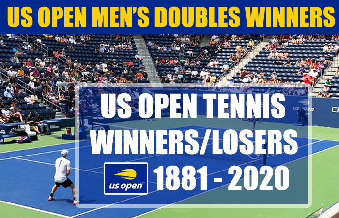 US Open Men's Doubles Champions List Year by Year (1881 – 2020)