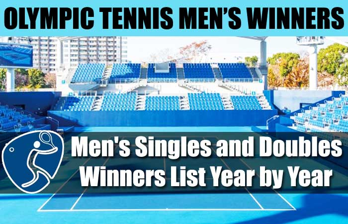 Olympics Tennis Men's Singles and Doubles Winners List Year by Year